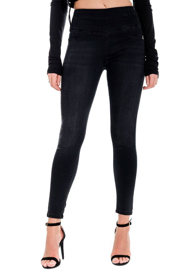 Patrizia Pepe jeans vita alta neri