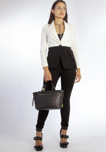 Mirella Matteini - giacca bicolor in crêpe