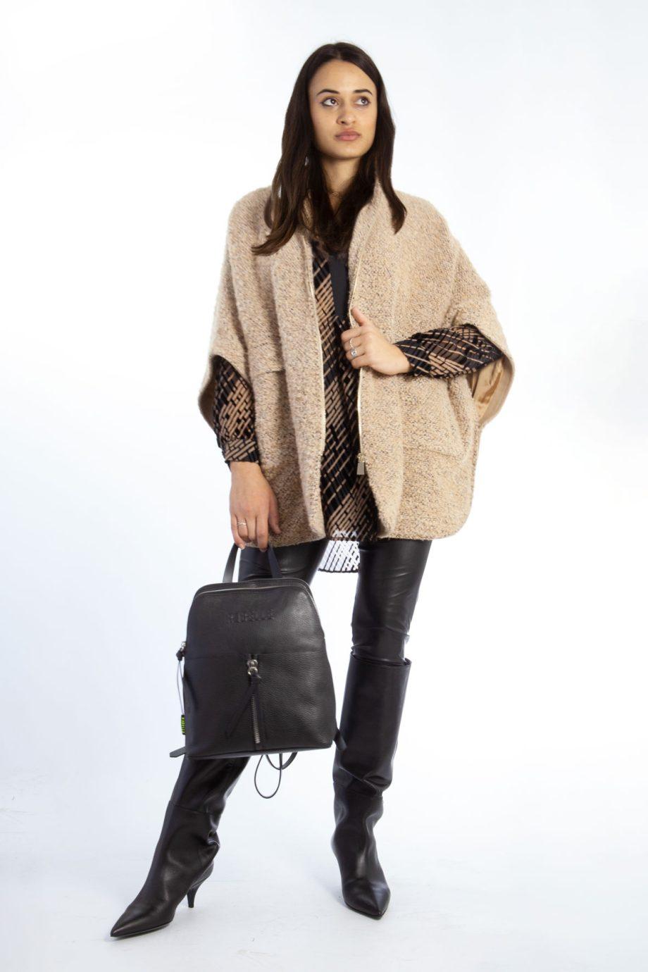 Mirella Matteini - mantella giacca con zip