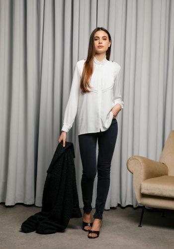 Fly Girl - camicia con pettorina a pieghe